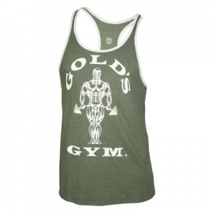 Muscle Joe Contrast Stringer Tank - army / cream