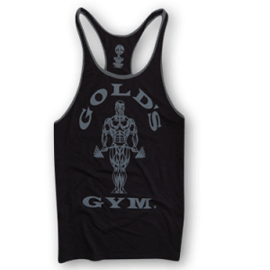 Muscle Joe Contrast Stringer Tank - black / arctic
