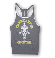 Muscle Joe Contrast Stringer Tank - arctic / white